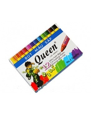 Bút sáp 12 màu Queen