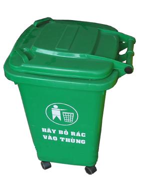 Thùng rác nhựa 60L HDPE