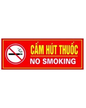 Biển báo Cấm hút thuốc